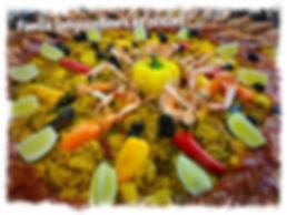 Paella luxe Langoustines Langoustes noix de Saint-Jacques