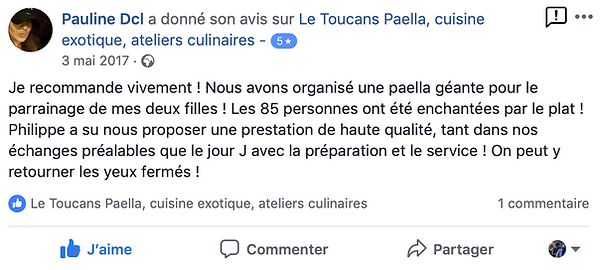 Avis Traiteur Festif