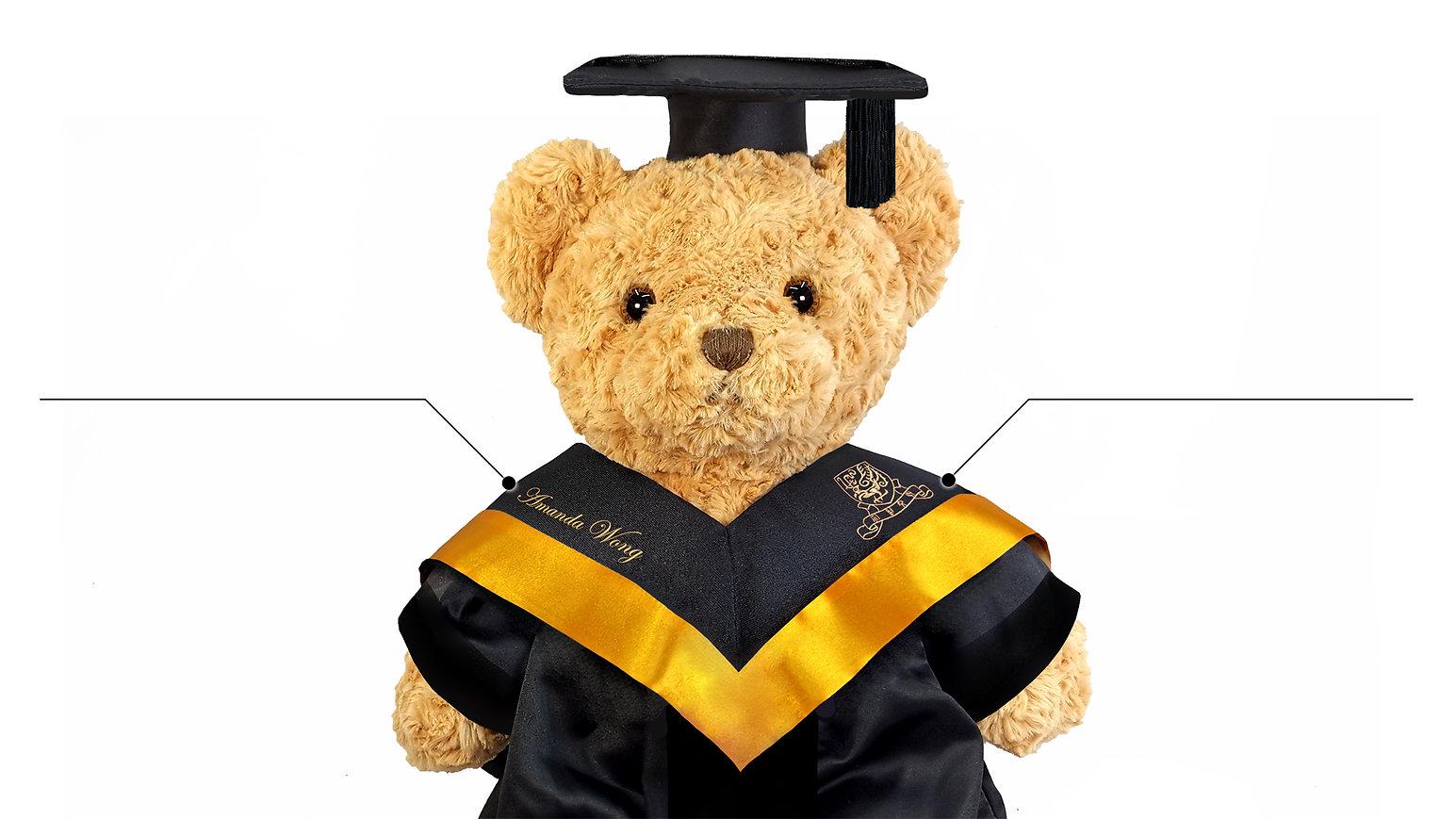 畢業熊、畢業公仔、大學畢業熊、中文大學畢業公仔、大學畢業袍、中學畢業袍、小學畢業袍、畢業典禮、畢業袍設計 |Academic Dress, Graduation Gown, University Academic Dress,Secondary School Academic Dress, Primary School Academic Dress