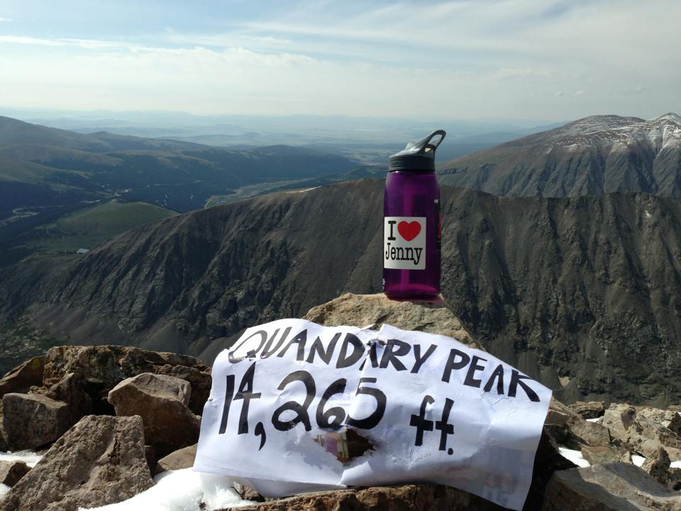 Jenny at Quandry Peak