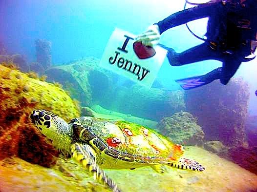 Jenny undersea