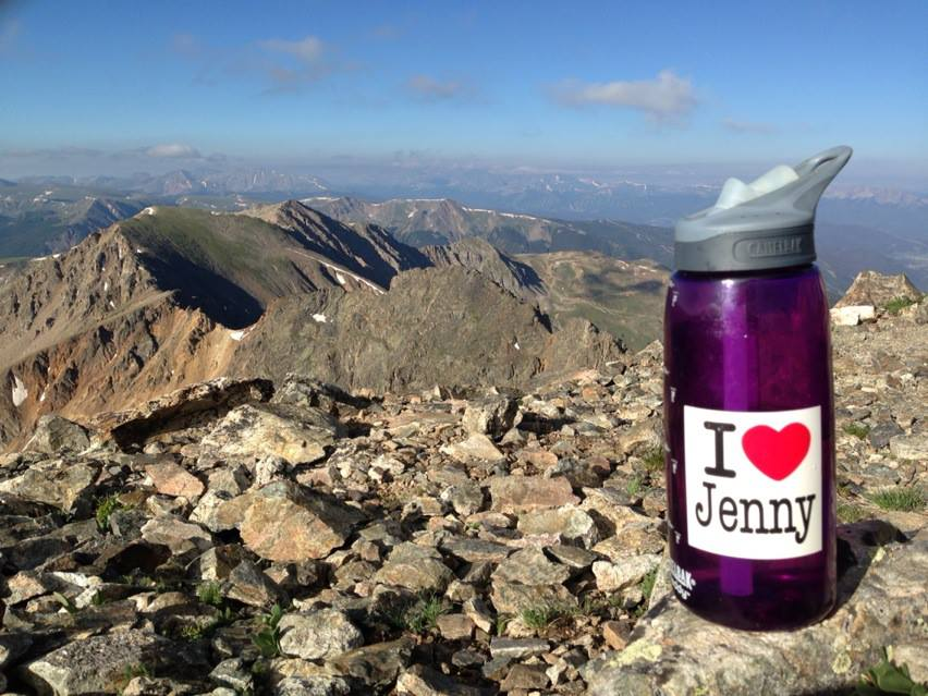 Jenny Water bottle on peak