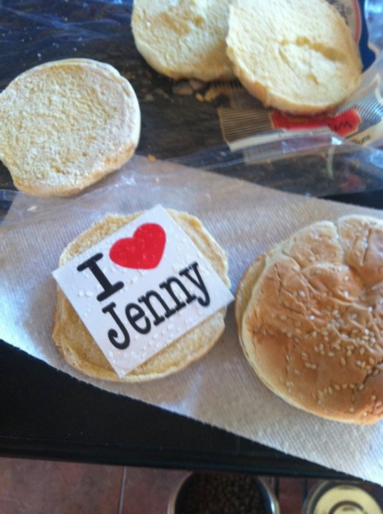 sticker on bun