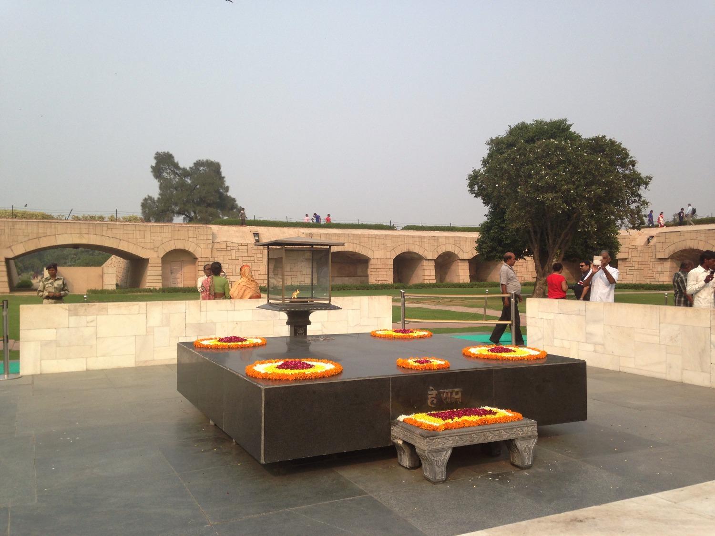 Le Mausolée Gandhi -Delhi