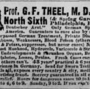 Dr. Gustavus Ferdinand Theel, Mayor of Ambler