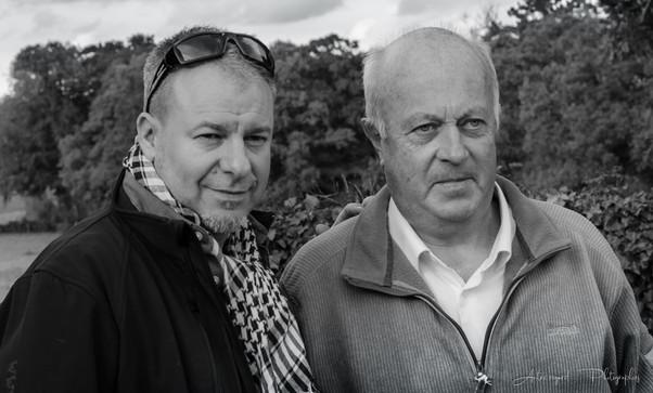 With Daniel Cuell (Mayor of Langouët) © Autre regard ... Photographies