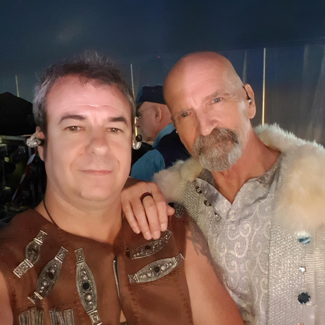 Avec Michael Sadler (SAGA)
