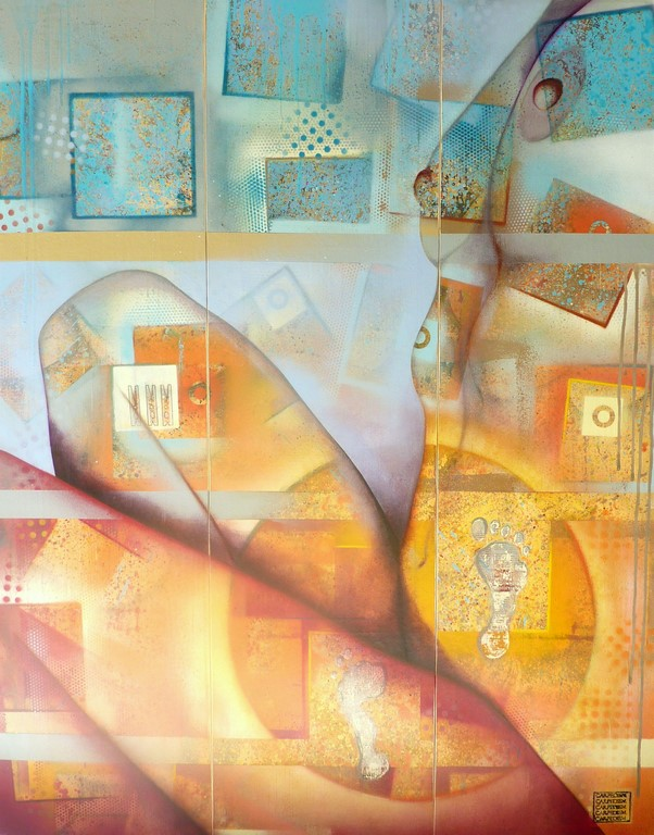 Emilie 120x150cm acrylique