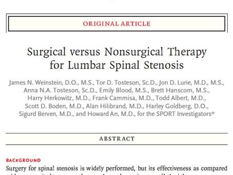 Χειρουργική Σπονδυλικής Στήλης: Evidence based?