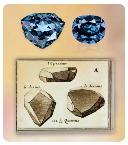 the hope diamond blue diamond at different stages