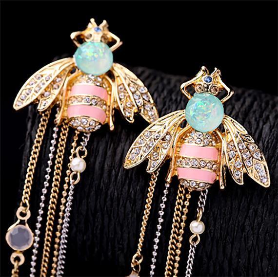 Pastel coloured Art Nouveau insect jewellery