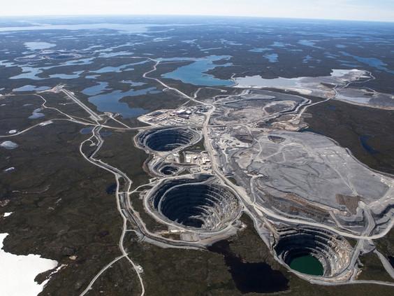 Ekati open-pit diamond mine in Northwest Territories Canada