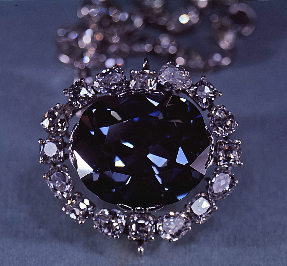 the hope diamond blue diamond set in diamond necklace
