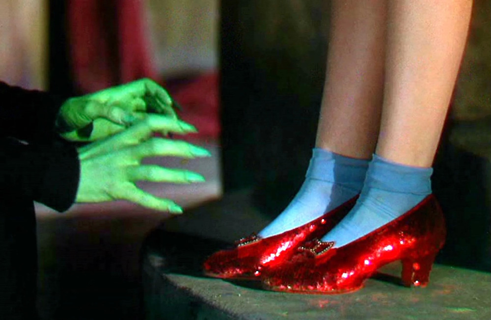 he Wizard of Oz Dorothy's ruby slippers