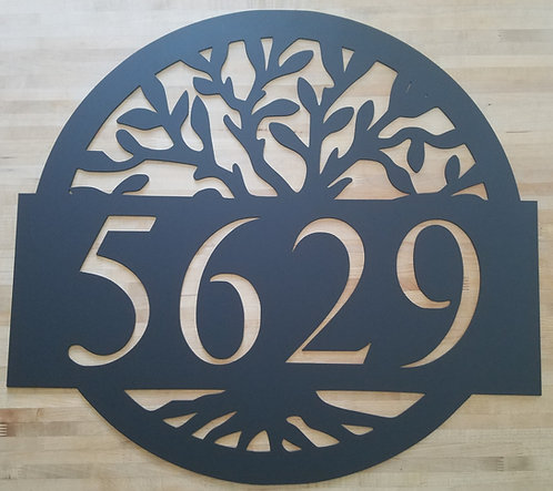 Tree of Life Address Sign / House Number