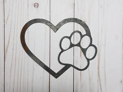 Heart w/paw