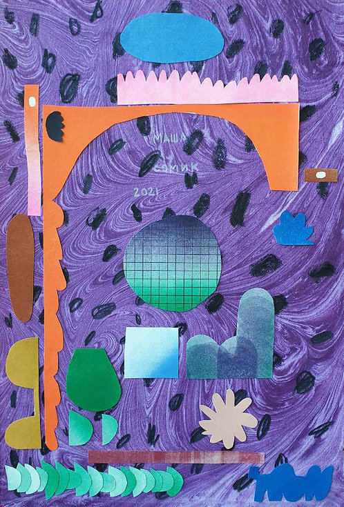 Violet collage