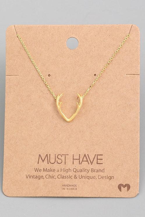 Delicate Antler Necklace