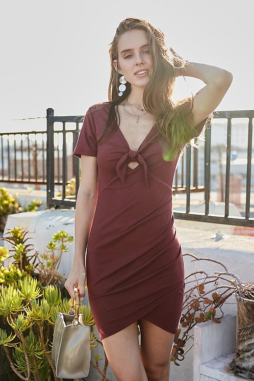Red Brown Bodycon Dress