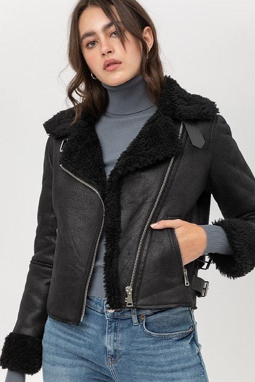 Black Sherpa Moto Jacket
