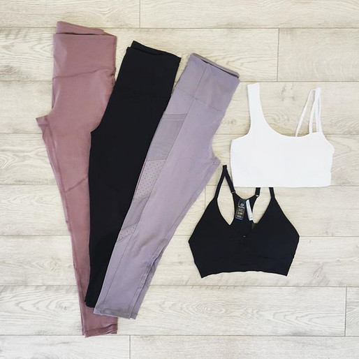 We have a little workout clothing sectio