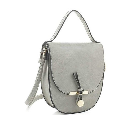 Plain Handle Curved Crossbody Bag
