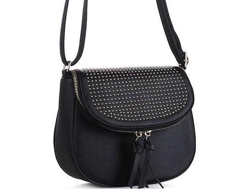 Studded Flap Crossbody Bag