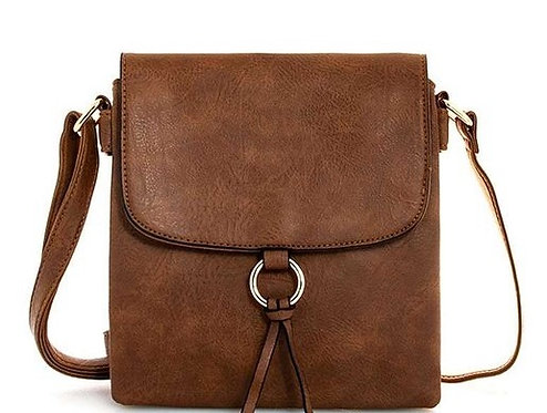 Crossbody Bag With Flap & Small Ring