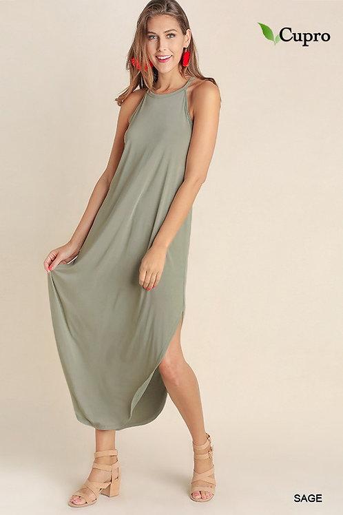 Simplistic Halter Maxi Dress