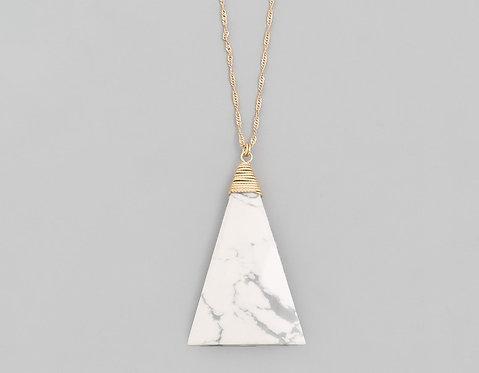 Triangle Stone Pendant Necklace