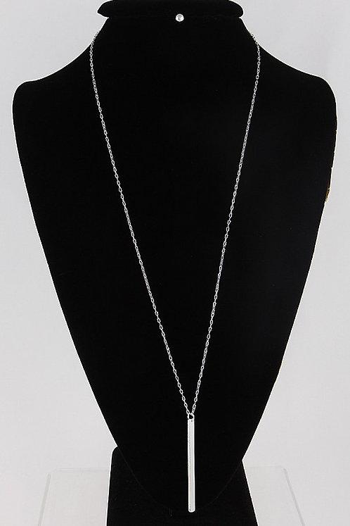 Long Drop Bar Necklace