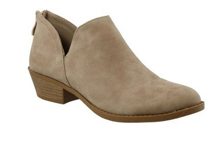 Taupe Brushed PU Bootie