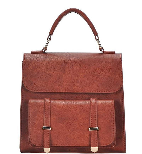 Square Buckle Flap Backpack