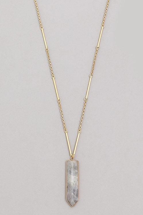 Long Semi Precious Stone Necklace