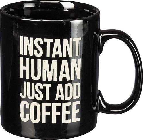 Black Instant Human Mug