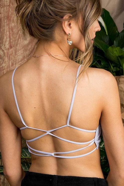 Light Grey Strappy Back Bralette