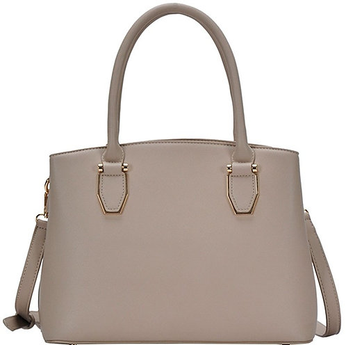 Taupe Modern 3 Compartment Purse