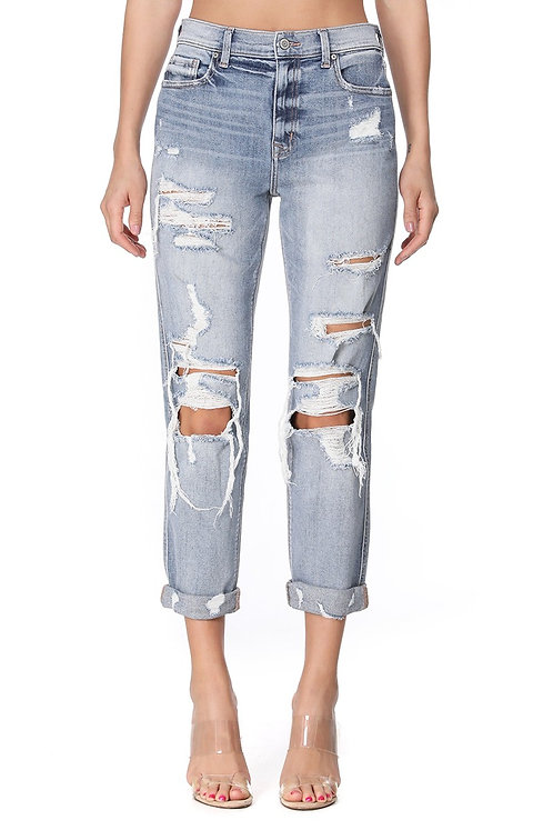 Rocky High Rise Girlfriend Jeans