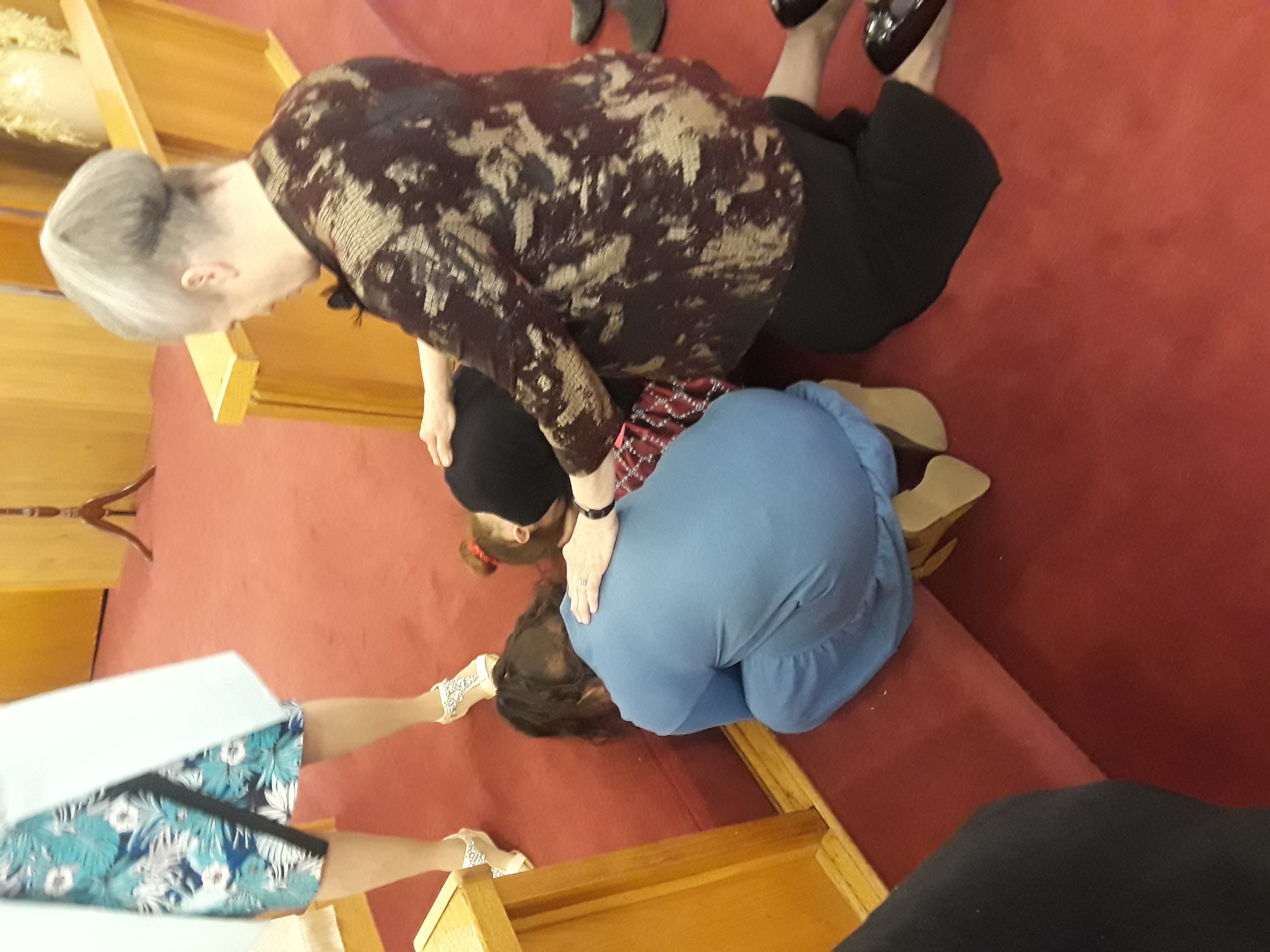 Madison and Hadessah at the altar