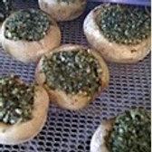 Nut Pesto Stuffed Mushrooms
