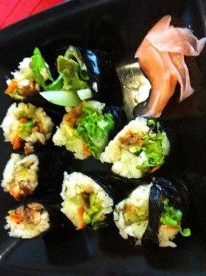 NUT FREE:  Nori Rolls (12 pieces)