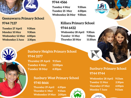 2022 Prep Information Sessions & School Tours