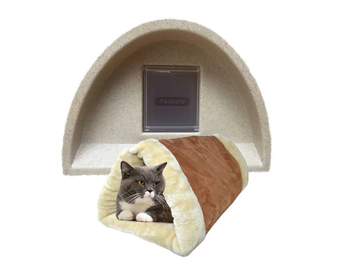 Outdoor Cat Kennel Plastic Cat House + Flap+ Cat Tunnel