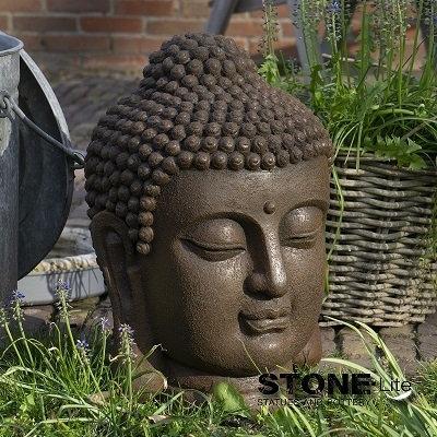 Boeddha hoofd M roest 31x30x42 cm