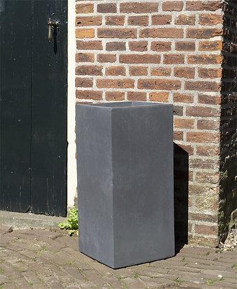 Bloempot zwart 28X28X60 cm