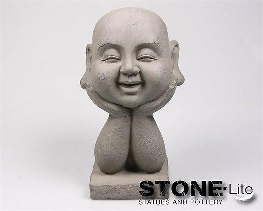Boeddha hoofd op hand 18x16x37 cm