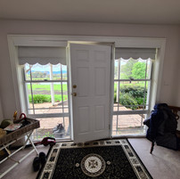 Before - Wrought iron entry door with custom trim
