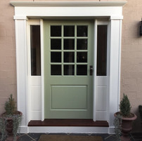 Custom entry door and frame - After