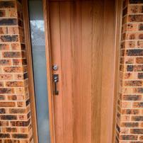 New solid cedar entry door