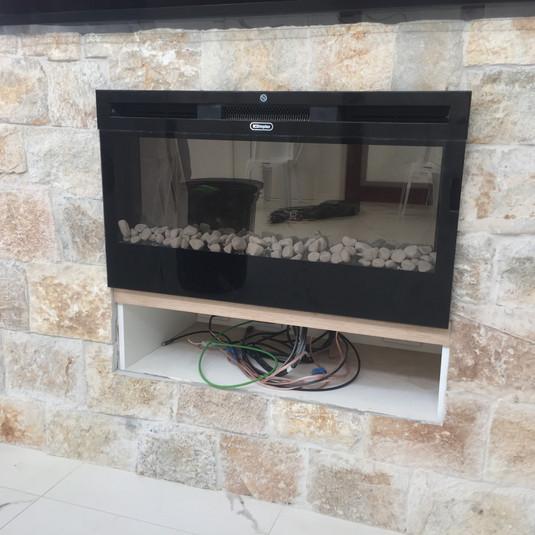 Fire place adjustment